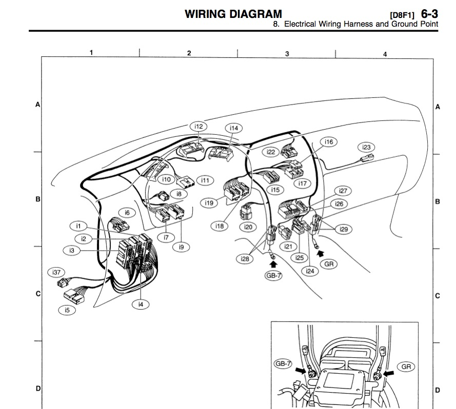 dash_wiring wiring diagram for a 1995 dodge dakota the wiring diagram dodge dakota wiring harness diagram at fashall.co
